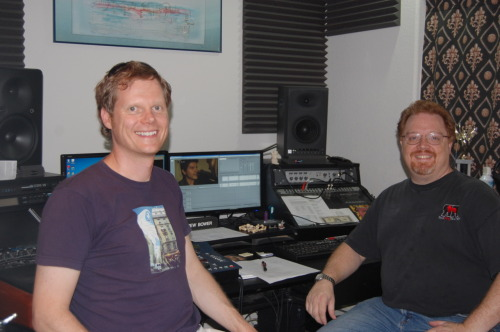 I met with Andrew Bower from Red Dog Records this weekend to work on the audio post production of the short film BEE. He was the location sound mixer on the set and now he does the audio post-production. He has been working really hard on the audio. Why work so hard on the audio?  Audio post production is key to make a film look great: it's all about those details to make you feel that the dialogs were all recorded in the same take, that the bees are near you buzzing. That's how you completely immerse the audience in the film and the story.