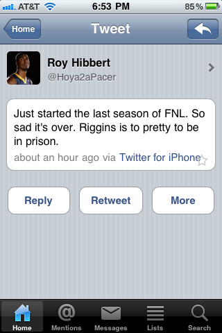 Roy Hibbert & Friday Night Lights