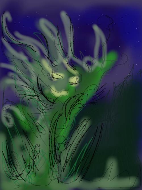 Been drawing earth elementals.