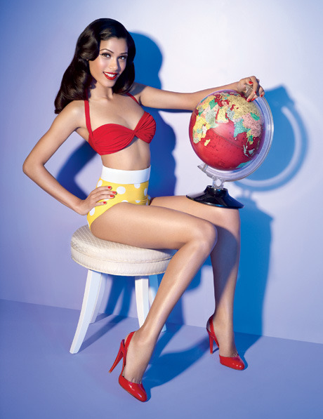 Freida Pinto as a Pin-Up girl
