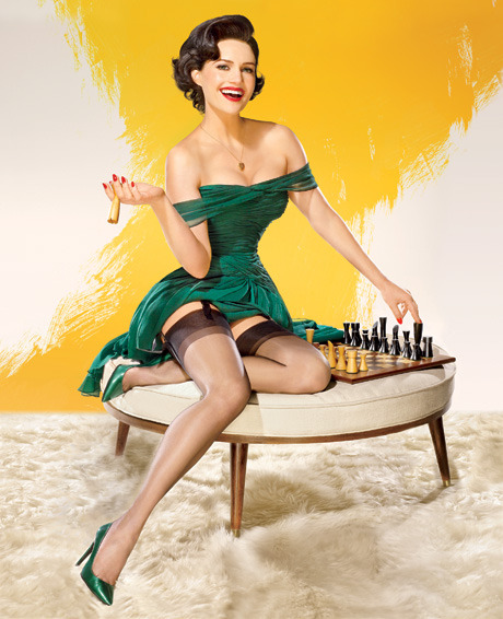 Carla Gugino as a pin-up