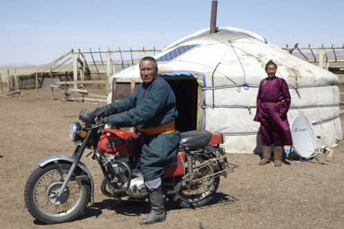 Mongolia, satellite dish   May 2011 By Andrea Fazzari