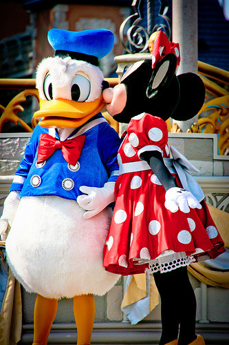 Donald Duck and Minnie Mouse (by abelle2)