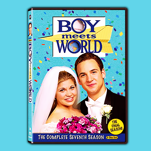 boymeetsworldgifs:  The Season 7 DVD Cover!( I'm sure all the Cory / Topanga shippers are loving this! )   OMG I LOVE THIS COVER MORE THAN LIFE ITSELF.
