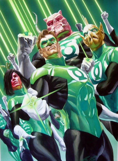 The Green Lantern Corps by Alex Ross