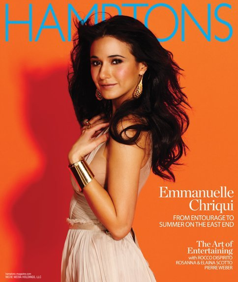 dresslover:  Emmanuelle Chriqui wears Dolce & Gabbana on the cover of Hamptons.