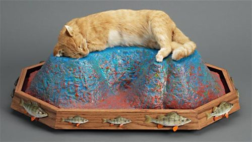 "Stephen Paternite, Sweet Dreams, 2007 Mixed-Media Sculpture 22"" x 30"" x 14"""