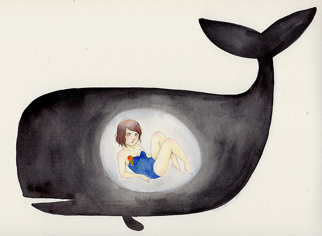 Starving in the belly of a whale by Eating ghosts on Flickr.