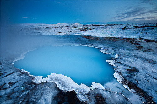 skeletales:  Blue Hour at Hveravellir - West Highlands, Iceland (by skarpi)