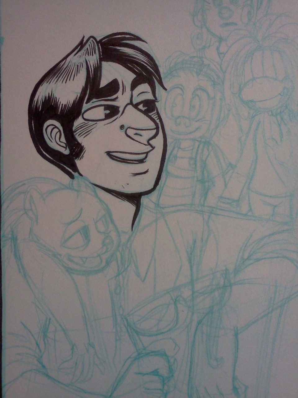 I'm only kinda in love with inking this man … <3