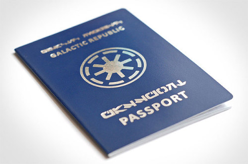 wookiekisses:  achezeta:    Passport of the Galactic Republic   This is freaking awesome.  I think I may need to get me one of these!
