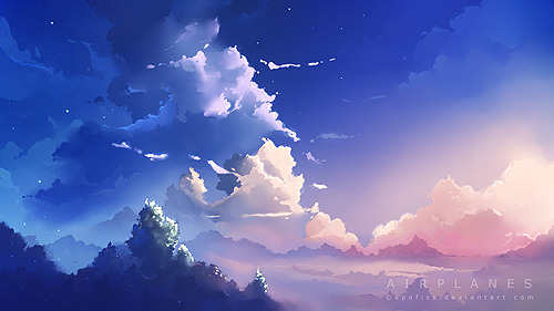 sky scenery practise ( click image for a full size )
