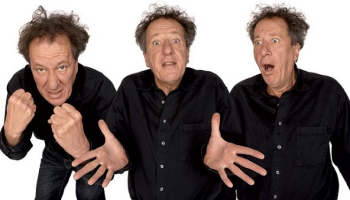 Geoffrey Rush also making some funny faces