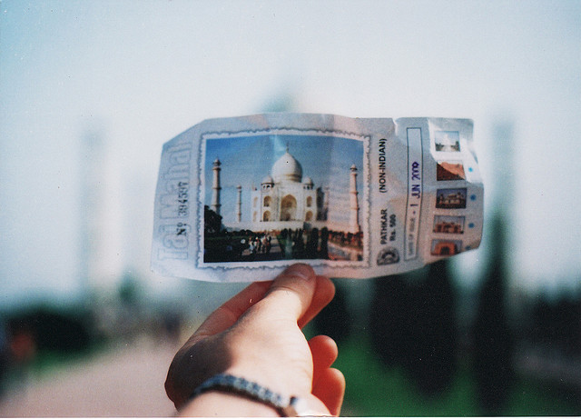 Ticket to the Taj on Flickr.I would like to go back to India.