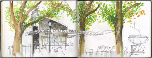 drawing shake shack without getting a burger…success or failure? but don't fret, i had a nice big order of bibimbap.