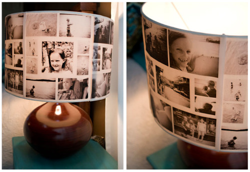 DIY photo lampshades (via)