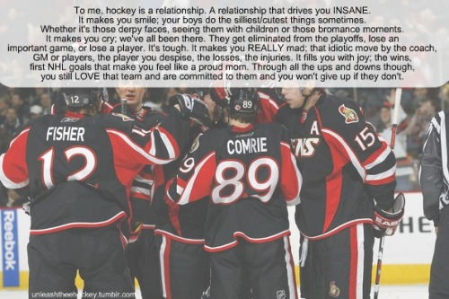 To me hockey means… by: livelaughhockey