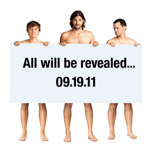 Two and a Half Men launches naked promo ad | EW.com This is just weird.