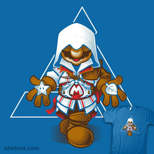 Mezio?? shirtoid:   It's a me! Ezio! by Obvian is $12 for a limited time at Qwertee
