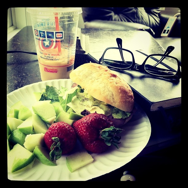 Sandwich, coffee, and Bible. Great afternoon :) (Taken with instagram)
