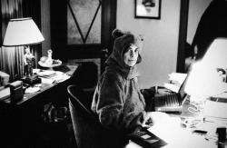 maitresse:  Yes, that is Susan Sontag in a bear suit. Photo by Annie Leibovitz. Found here.