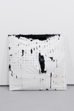 erasing:  Acrylic in Canvas with Ruptures: Grid | Analia Saban via mellabrown