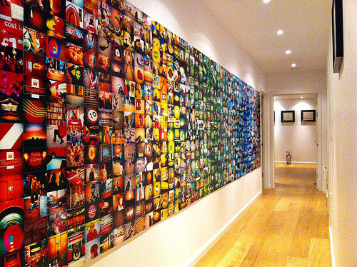 blinkanditsover:  The Lomo wall is complete! (by Will Cheyney)  If only I was ambitious enough, I would attempt this.