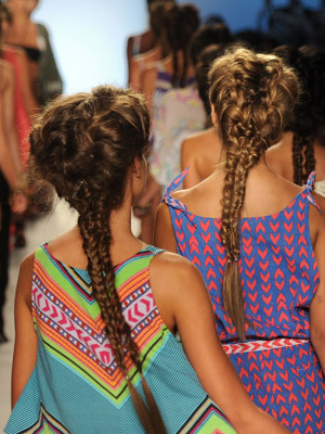 Mermaid Braids….Milkmaid Braids' edgy little sister.