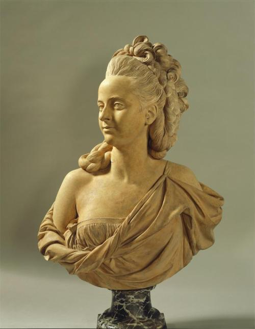 jordansartmuseum:  Augustin Pajou. Marie-Adélaïde Hall. 1775. Terracotta. The Frick Collection. New York, NY. USA.