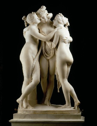 The Three Graces (1814-1817) by Antonio Canova