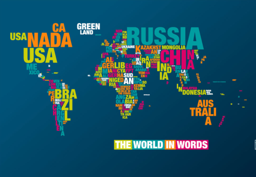 did-you-kno:  World map in Words.