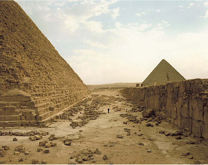 White Man Contemplating Pyramids, Richard Misrach, from The Life and Death of Buildings at Princeton University Art Museum