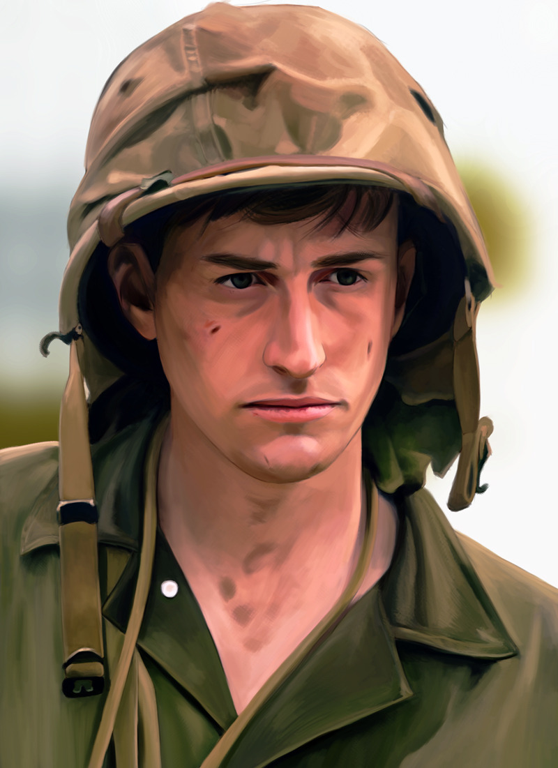 It is done. Wonderful Joe Mazzello as Eugene Sledge in the Pacific.