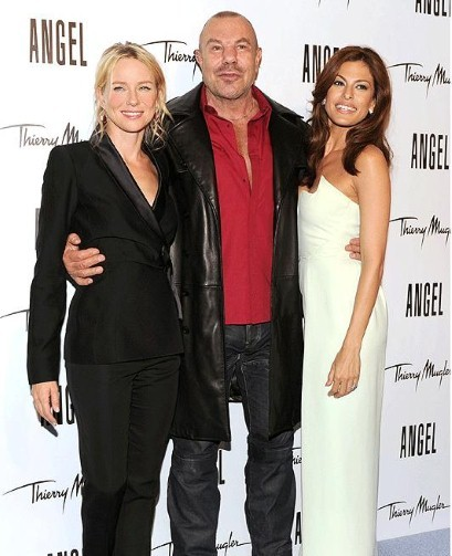 Thierry Mugler with Eva Mendez and Naomi Watts