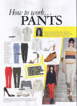 "More One Point Five editorial in Grazia!!! Featured in the ""How to Work Pants"" special are One Point Five's Barbara wooden heels in grey and pink. Check out Issue 47 (released July 18th, 2011) and our website www.onepointfive.com.au for a closer look!"