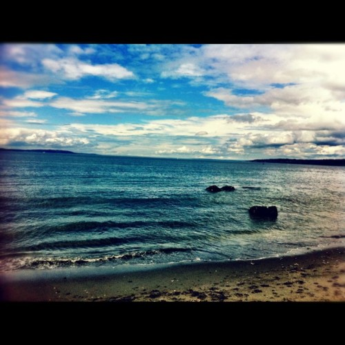 I found sun on Saturday.  (Taken with Instagram at Golden Gardens Park)