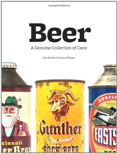 "Beer: A Genuine Collection of Cans  Dan Becker  Ever crack open a can of Chief Oshkosh of Wisconsin, or sample Pabst's Big Cat Malt Liquor? Remember the original St. Pauli Girl, Tennent's bevy of lager lovelies, or Olde Frothingslosh (""the pale stale ale with the foam on the bottom"")? Presented alphabetically by brand, the nearly 500 cans collected here come from thirty countries and range from the iconic to the obscure to the downright bizarre. From long-forgotten brews to classic brands that have changed their look but never gone out of style, Beer offers a peek into the last century of beer culture, exploring what we drank, how we drank it, and why we picked it off the shelf. While it may not be as refreshing as a frosty cold can of Bud, cracking open this book is certain to stimulate beer lovers and design fans alike."
