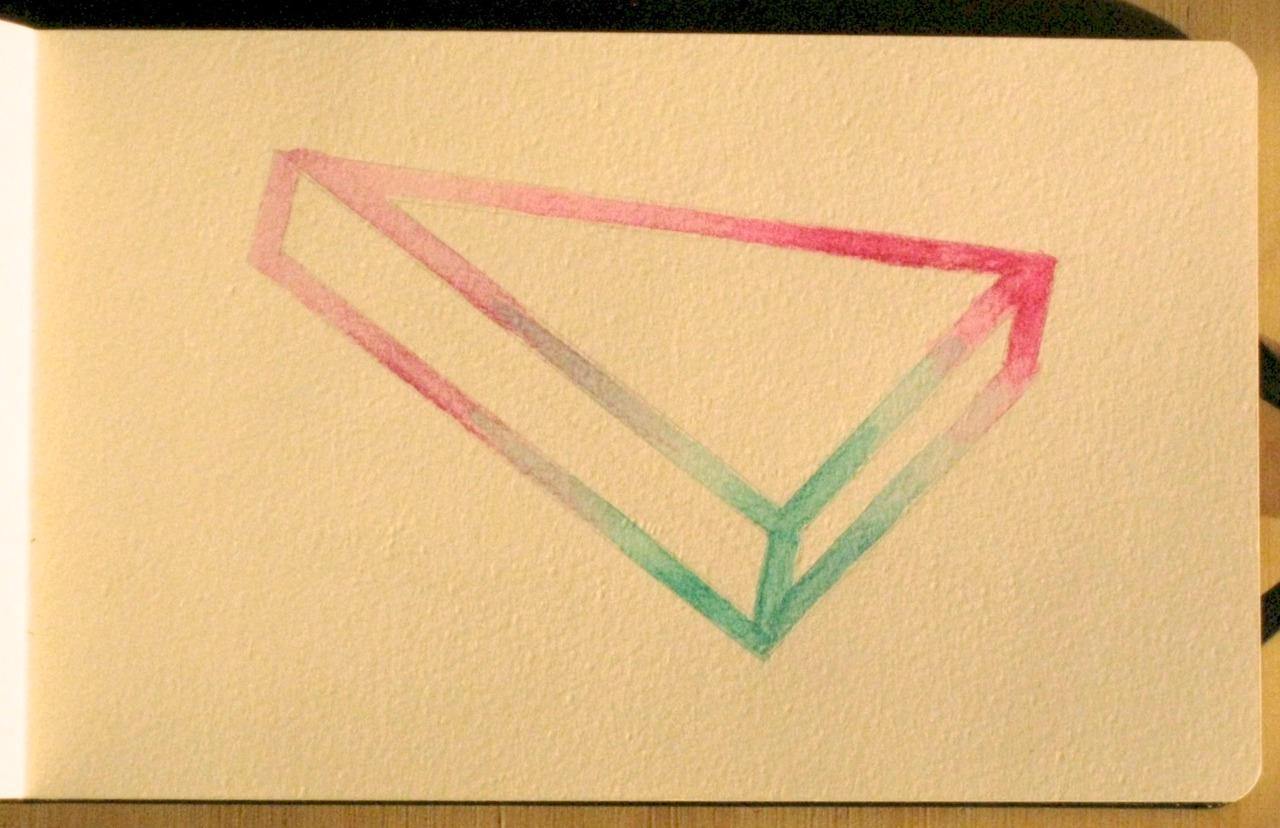 "Extreme Attention to Simple Looking, 5""x7"", watercolor on paper, 2011."