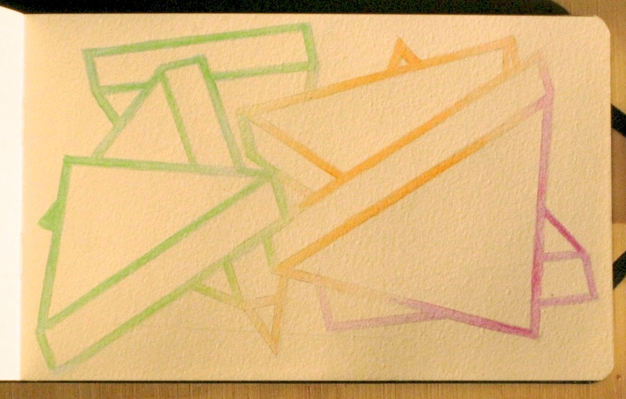 "Features a Rare Modification, 5""x7"", watercolor on paper, 2011."