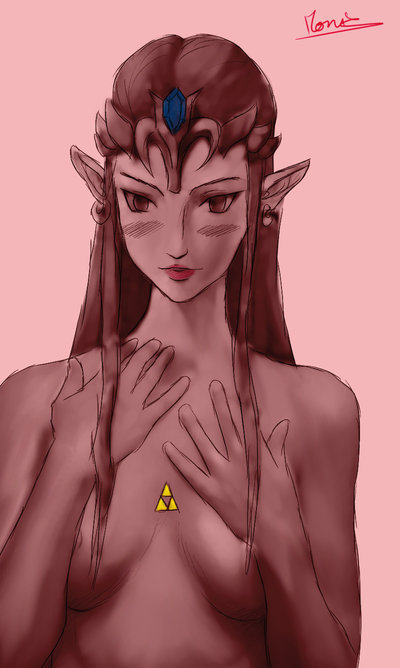 Zelda getting naughty.