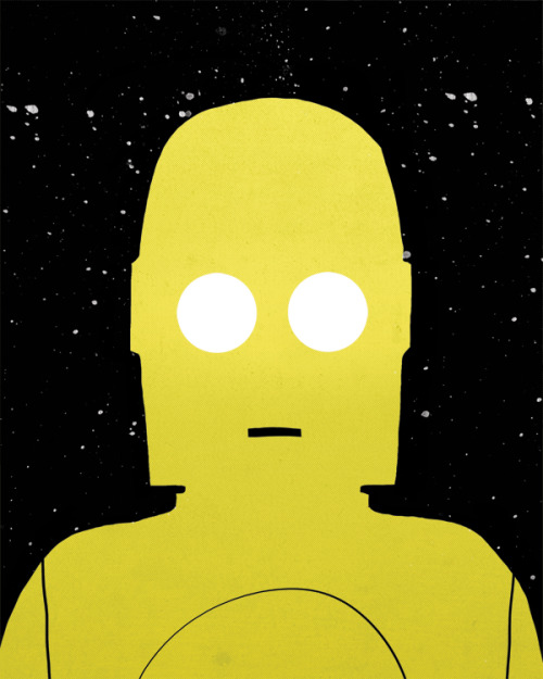 "Characters from Memory #3: C3PO. So I did this tonight and it's not entirely that exciting to me but I wanted to post it anyway. I definitely want to come back to a lot of this ""from memory"" stuff later and do some serious illustrations using some reference to support it. Well…enjoy :)"