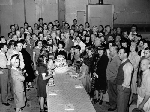 Shirley Temple at her Birthday Party at 20th Century Fox Studios, 1930s.