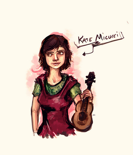 kate micucci (by Nn.) Drawing real people is not easy.