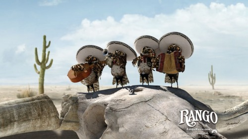 I just watched Rango with Amelia. Best part? The mariachi owls.