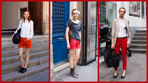 Stockholm Sweden Street Style. See'in Red (my favorite color). From the fantastic site: they all hate us here.