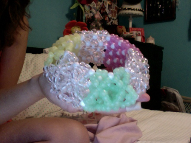 missda1sy:  The new 3D cuff I made for my friend, Helium =]