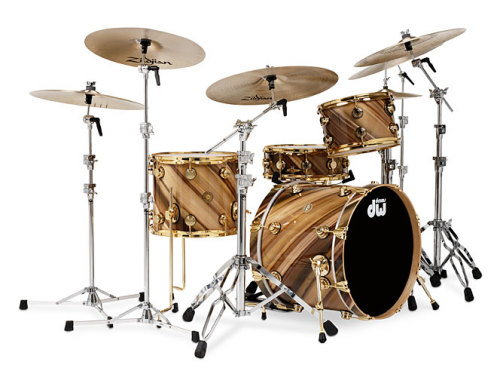 drumkit:  DW Jazz Series, Twisted Rainbow Wood