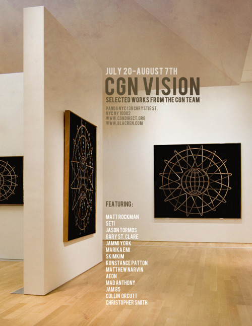 If you're in NYC at all from July 20 - August 7, be sure to stop by the CGN Vision exhibit where some of my photos will be on display. And be sure to hit the spot on Saturday, July 30 after 10 p.m. for a special event at the gallery.