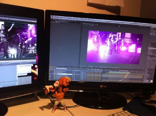 A sneakity-peek from the desk of our video director/homeboy Alon Isocianu… goin hard in After Effects! We're almost there!!!