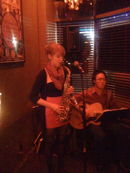 Playing with Jesse Sullivan at The Cask in West Seattle!